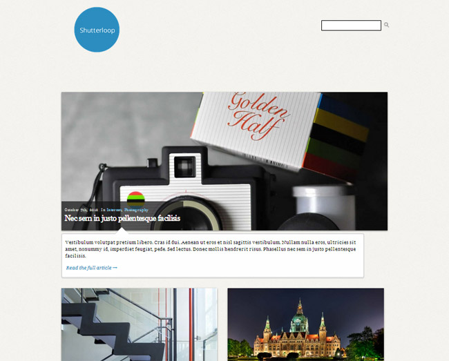 ShutterLoop Free WordPress Theme