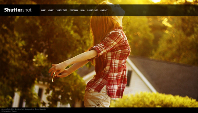 Shuttershot Free WordPress Theme