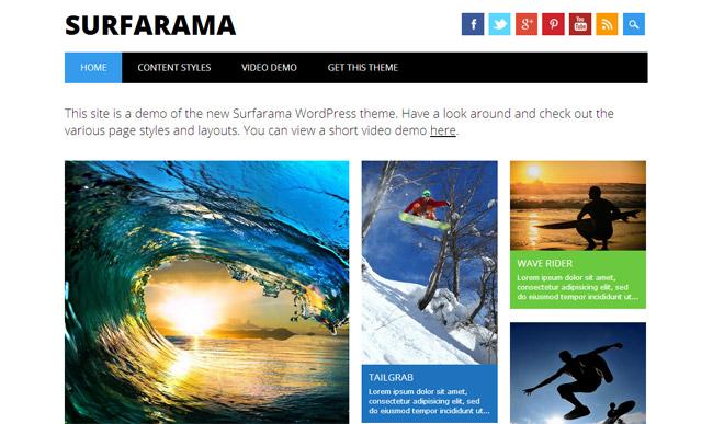 Surfarama Free WordPress Theme