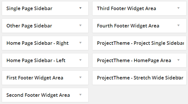 Project Theme Widgets