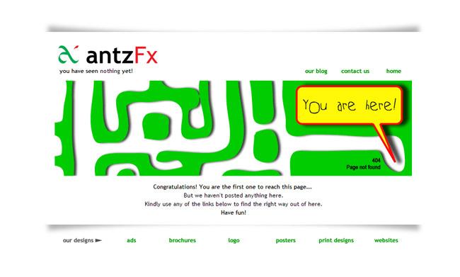 Ants FX Error Page