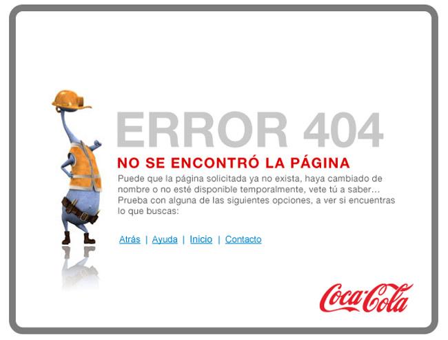 Coca Cola Error Page