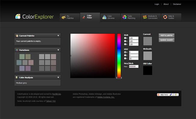 ColorExplorer Color Picker Website