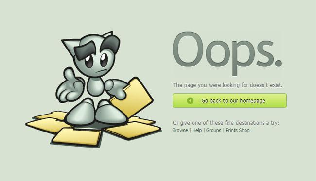 Deviantart Error Page
