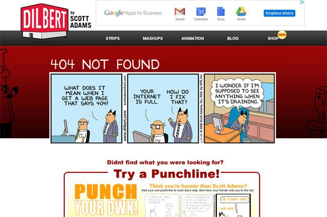 Dilbert Error Page
