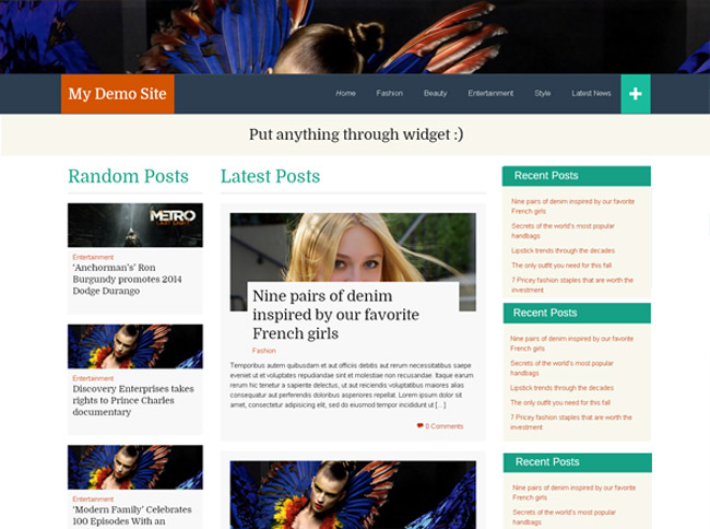 FlatThirteen Free WordPress Theme