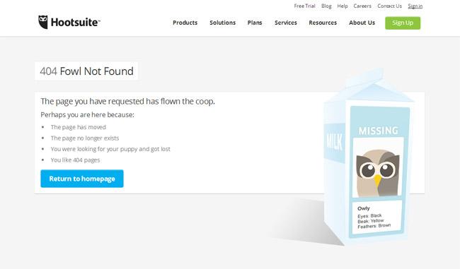 Hootsuite Error Page