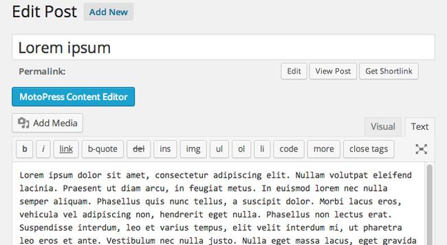 MotoPress Content Editor Button