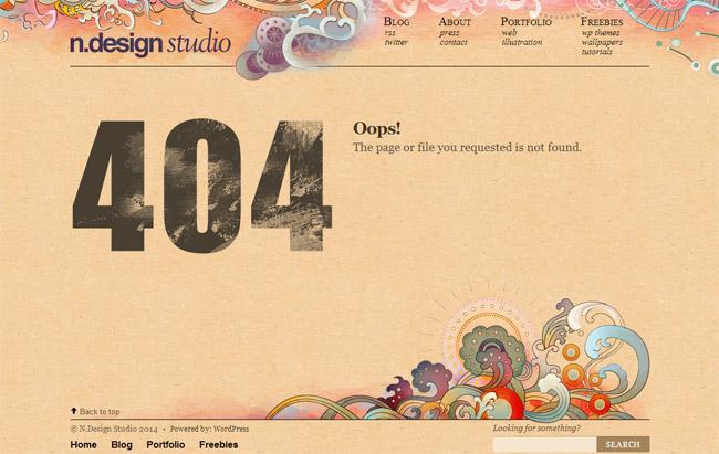 n.design studio Error Page