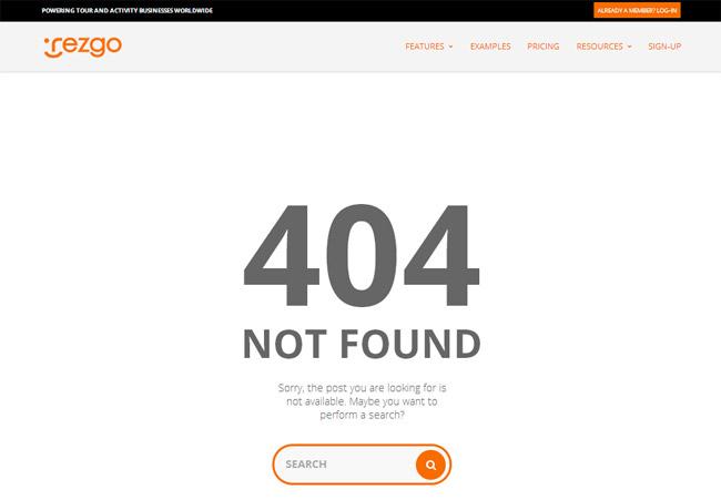 Rezgo Error Page