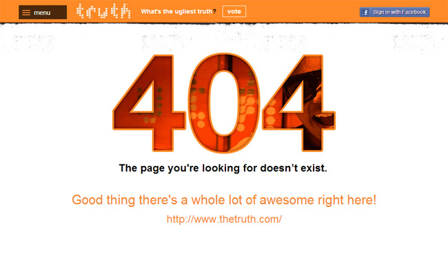 The Truth Error Page