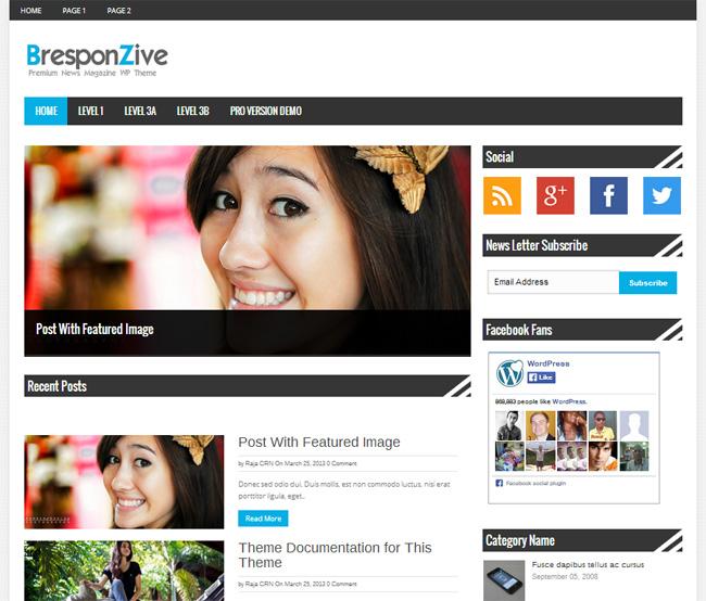 BresponZive Magazine WordPress Theme