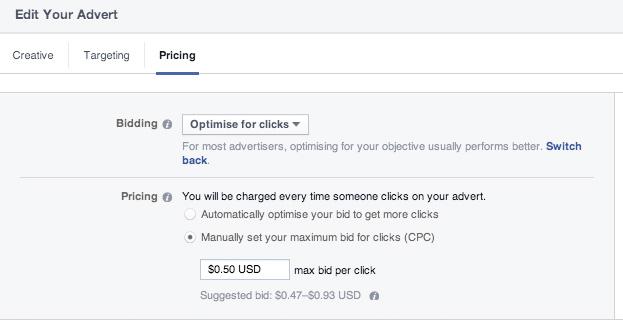 Optimise Facebook Campaign for Clicks