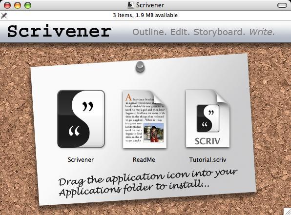 Scrivener Corkboard