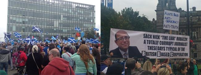 Protesting the BBC