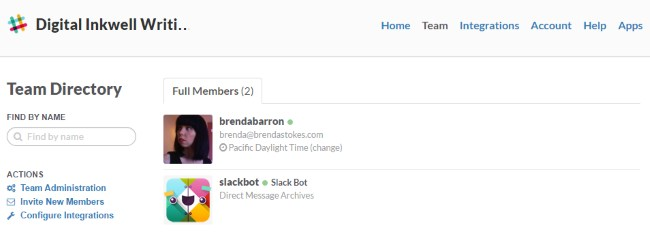 Slack team directory
