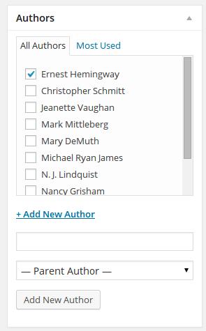 Add new author