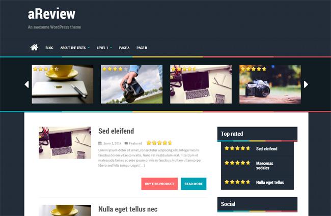 aReview Free WordPress Theme