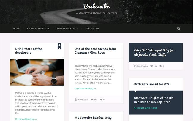 Baskerville Free WordPress Theme