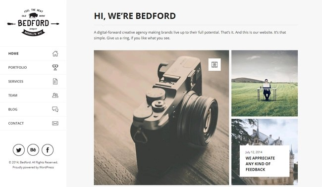 Bedford WordPress Theme