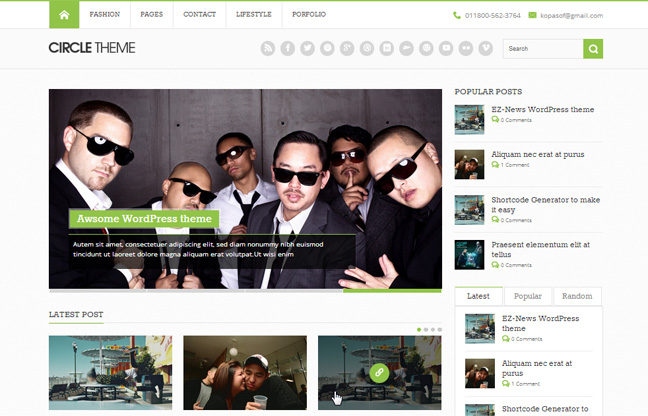 Circle Free WordPress Theme