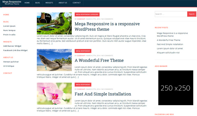 MegaResponsive Lite Free WordPress Theme