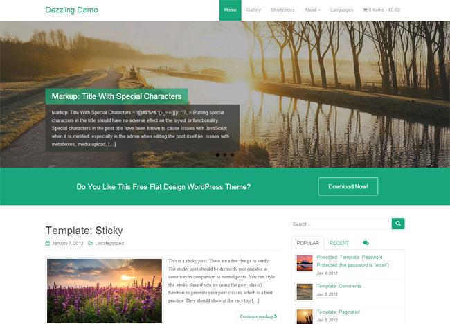 Dazzling Free WordPress Theme