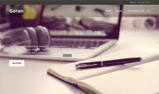 Goran Free WordPress Theme