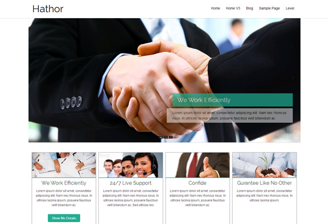 Hathor Free WordPress Theme