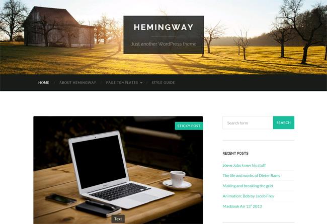 Hemingway Free WordPress Theme
