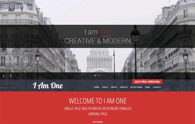I Am One Free WordPress Theme