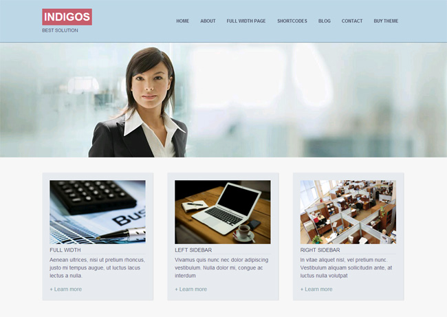 Indigos Free WordPress Theme