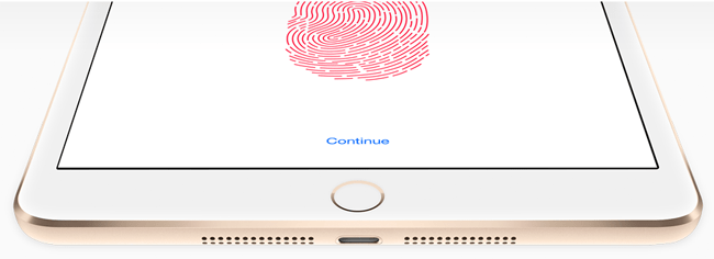 iPad Fingerprint Sensor