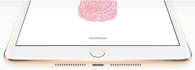 iPad Fingerprint Sensor