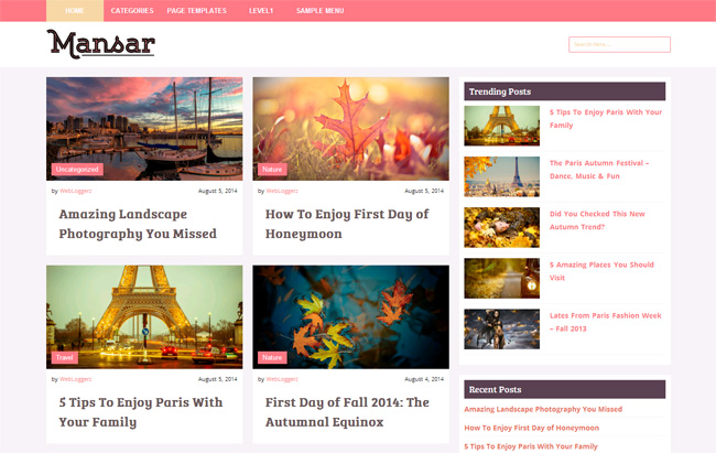 Mansar Free WordPress Theme