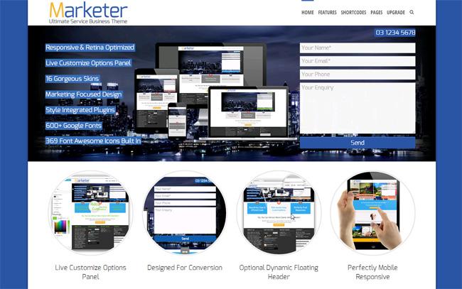 Marketer Free WordPress Theme