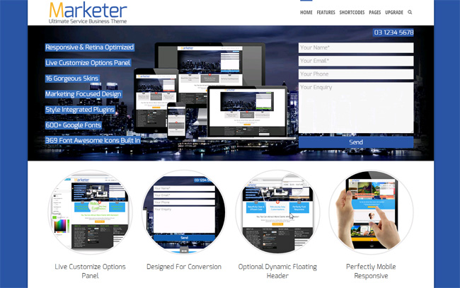 Marketer Free WordPress Theme