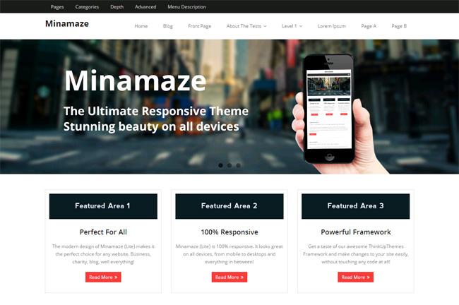 Minamaze Free WordPress Theme