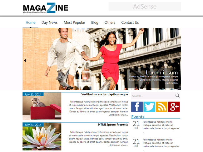 Magazine Free WordPress Theme