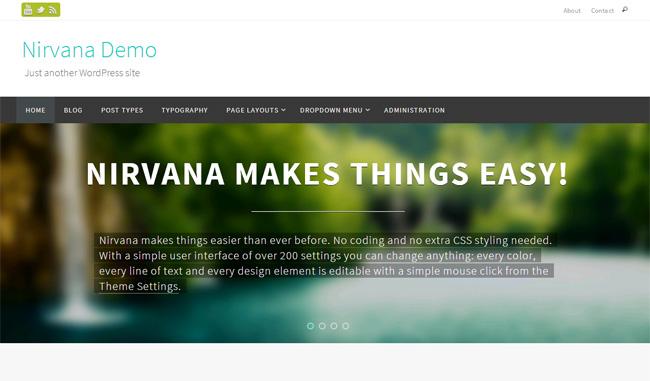 Nirvana Free WordPress Theme