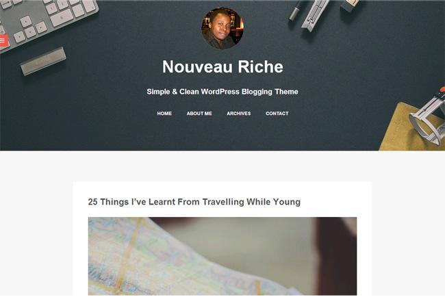Nouveau Riche Free WordPress Theme