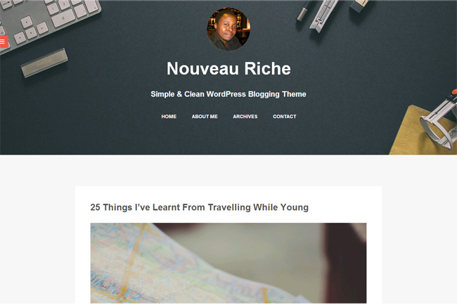 Nouveau Riche Free WordPress Theme