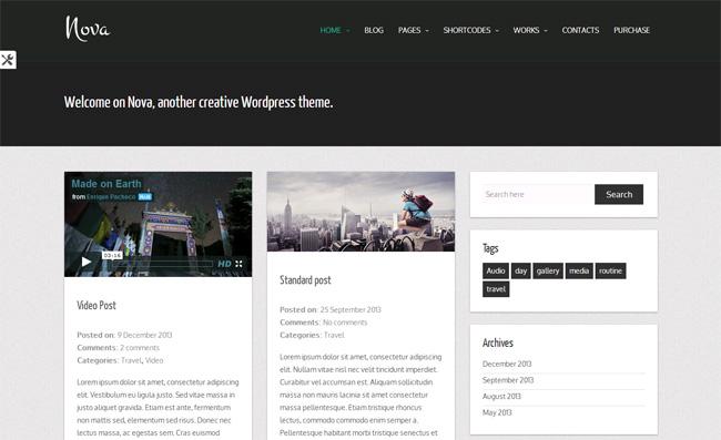 Nova Free WordPress Theme