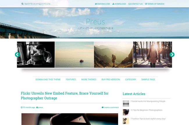 Preus Free WordPress Theme