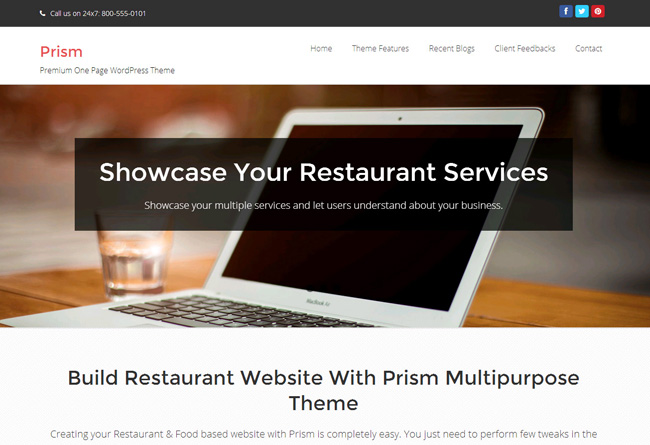 Prism Free WordPress Theme