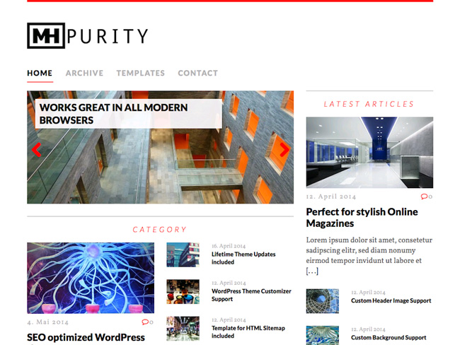 Purity Free WordPress Theme