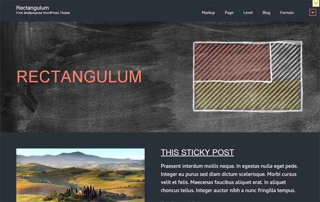 Rectangulum Free WordPress Theme