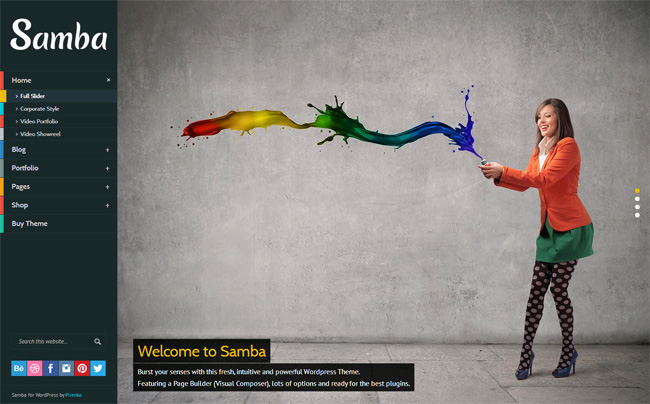 Samba WordPress Theme