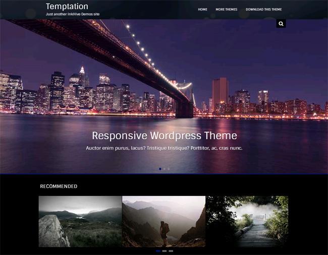 Temptation Free WordPress Theme