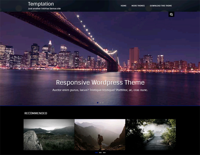 Temptation Free WordPress Theme